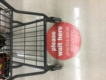 COVID-19 Images_Grocery Store Social Distancing Sign by Kimberly Sawtelle