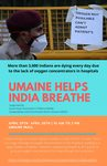 SAAM: UMaine Helps India Breathe Poster by University of Maine South Asian Association of Maine