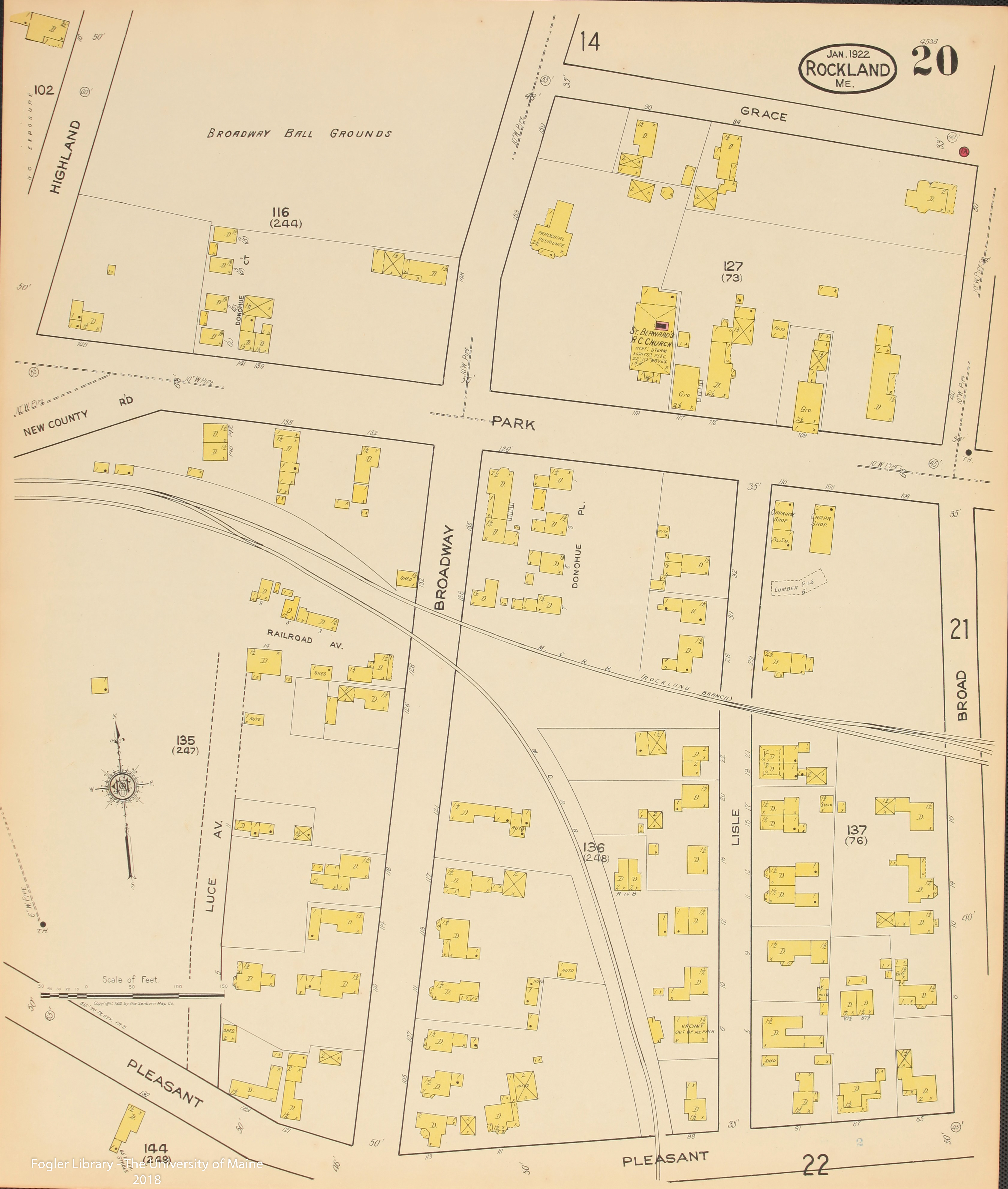 map of rockland maine Rockland 1922 By Sanborn Map Company map of rockland maine