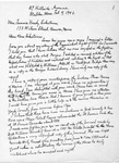 Correspondence from George Walter Chamberlain, 1942