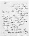 Letter from Margaret Ruggles, 1930
