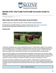 Beef Cattle Herd Health Management Guide for Maine #1031