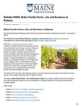 Maine Family Farms: Life and Business in Balance #4800 by Leslie A. Forstadt Ph.D. and Tori Jackson