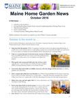 Maine Home Garden News Oct 2016 by Kate Garland