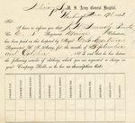 Vickery (James B.) Civil War Records, 1861-1865