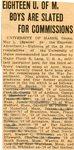 War Records (University of Maine), 1917-1945