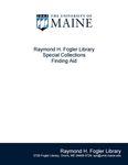 Maine Veterinary Medical Association Records, 1892-1995