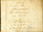 Hayden (Richard Vose) Papers, 1821-1867