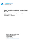 Media Services Records (University of Maine System)
