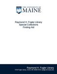 Research and Sponsored Programs Records (University of Maine), 1978-2013