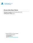 Payson (John Dana) Diaries, 1885-1910
