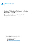 Student Publications (University Of Maine) Committee Records, 1970-2000
