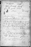 Fish (William) Account Book, 1771-1808