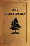 Maine Forester: 1936 by University of Maine. School of Forestry Resources.