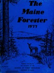 Maine Forester: 1977 by University of Maine. School of Forestry Resources.