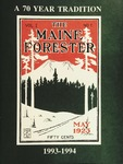 Maine Forester: 1994 by University of Maine. School of Forestry Resources.