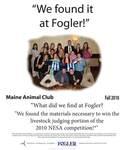 We Found it at Fogler - Maine Animal Club