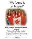 We Found it at Fogler - Club Canada/Societe du Canada by Hansie Grignon and Brad Finch