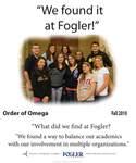 We Found it at Fogler - Order of Omega