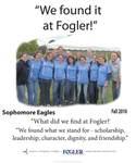 We Found it at Fogler - Sophomore Eagles