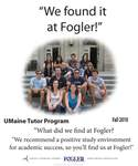 We Found it at Fogler - UMaine Tutor Program