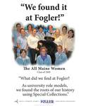 We Found it at Fogler - All Maine Women