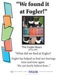 We Found it at Fogler - The Fogler Bears