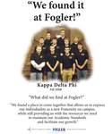 We Found it at Fogler - Kappa Delta Phi