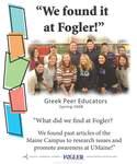 We Found it at Fogler - Greek Peer Educators