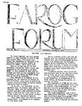 F.A.R.O.G. FORUM Vol. 2, No. 2
