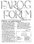 F.A.R.O.G. FORUM, Vol. 2 No. 3