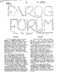 F.A.R.O.G. FORUM, Vol. 2 No. 1