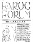 F.A.R.O.G. FORUM, Vol. 2 No. 5