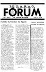 F.A.R.O.G. FORUM, Vol. 3 No. 6 by Daniel Chassé, Editor; Denise Carrier, Information Editor, Graphics; Mark Violette, Photography; Claire R. Bolduc, Special Editor; Margaret Hatch; Yvon Labbé; Pearly Lachance; Rev. Fr. Lée (Leo) Hall, S.M.; and Bill Kayne