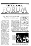 F.A.R.O.G. FORUM, Vol. 3 No. 8 by Daniel Chasse, Editor