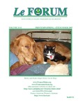 Le FORUM, Vol. 33 No. 1 by Lis Desjardins Michaud, Rédactrice; Dick Gosselin; Denise R. Larson; Virginie Sand; Annette Paradis King; Harry A.M. Rush; Judy Ayotte Paradis; Charles Francis; Raymond Bélanger; Jim Bélanger, trans.; Armand Bélanger, trans.; Joe Melanson; Albert J. Marceau; Juliana L'Heureux; Michelle Goriou Barany; and Ross W. Winterowd, trans.
