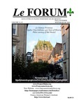 Le FORUM, Vol. 34 No. 1 by Lisa Desjardins Michaud, Rédactrice; Nundy Guiisti; Julina L'Heureux; Chip Gagnon; and Pearley Lachance