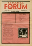 F.A.R.O.G. FORUM, Vol. 3 No. 1 by Daniel Chassé, Editor; Bobbie Violette, Information Editor; Denise Carrier, Graphics and Layout; Claire Bolduc; and Mark Violette