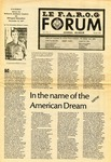 F.A.R.O.G. FORUM, Vol. 5 No. 5 by Peter Archambault, Debbie Gagnon, Steve Robbins, Stephen Poirier-Mickertz, Mary LaFleur Wolfe, Yvon A. Labbé, Paul Paré, Suzanne Paré, William S. Cohen, Raoul J. Letiecq, Alice Michaud Cyr, Julien Olivier, Don Hinkley, Grégoire Chabot, Don Bourgoin, Armand B. Chartier, Linda Gilbert-Ballard, Linda Kellam, Debbie Clifton, Jim Pinette, Pierre-Paul Parent, and Denis Ledoux