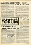 F.A.R.O.G. FORUM, Vol. 8 No. 1 by Yvon A. Labbé , Rédacteur en chef and James Violette , Rédacteur Etudiant