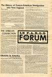 F.A.R.O.G. FORUM, Vol. 8 No. 2 by Yvon A. Labbé , Rédacteur en chef; Steffan T. Duplessis , Rédacteur Adjoint; and James Violette , Rédacteur Etudiant
