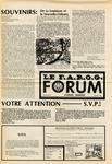 F.A.R.O.G. FORUM, Vol. 8 No. 5 by Yvon A. Labbé , Rédacteur en chef; Steffan T. Duplessis , Rédacteur Adjoint; and James Violette , Rédacteur Etudiant