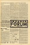 F.A.R.O.G. FORUM, Vol. 8 No. 7-8 by Yvon A. Labbé , Rédacteur en chef; Steffan T. Duplessis , Rédacteur Adjoint; and James Violette , Rédacteur Etudiant