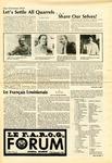 Le FORUM, Vol. 9 No. 4 by Yvon A. Labbé , Rédacteur en chef; Steffan T. Duplessis , Rédacteur Adjoint; Marc D. Morin , Rédacteur Etudiant; and Elizabeth M. Cash , Rédactrice Etudiante