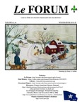 Le Forum, Vol. 41 No. 4 by Lisa Desjardins Michaud, Richard Michaud, Marie-Anne Gauvin, Gérard Coulombe, Katherine Wing, Daniel Moreau, James Myall, Juliana L'Heureux, Suzanne Beebe, Patrick Lacroix, Kerri Arsenault, Normand Beaupre, Susann Pelletier, Marcel Duclos, French American Heritage Foundation of MN, Wilfred H. (Chip) Bergeron, Wilbur Labbé, Margaret Langford, Don Levesque, and Robert Chenard