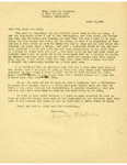 Thompson Document 25: Letter from Henrietta Thompson to Tun Shein and Lulu