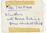 Card from U Tun Shein to Henrietta Thompson by Henrietta Thompson