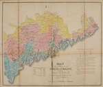 Map of the Inhabited Part of the State of Maine : Exhibiting the Progress of its Settlement since the Year 1778, the Representative Districts since the Year 1820, and the Population and Valuation of Taxable Property in Each District at the Year 1820