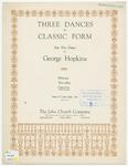 Three Dances in Classic Form : Gavotte