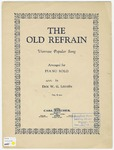 The Old Refrain: Viennese Popular Song